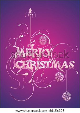 Merry Christmas custom lettering,unique and elegant concept.