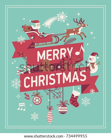 merry christmas decorative