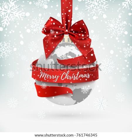 merry christmas  earth icon