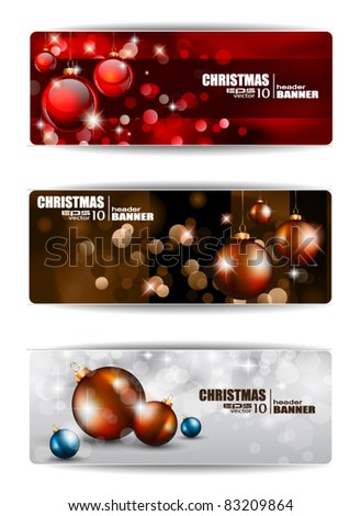 Merry Christmas Elegant Suggestive Background for Greetings Card or Advertising Banners