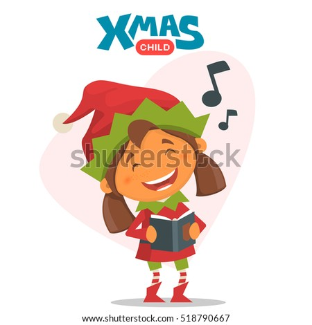 merry christmas elf vector