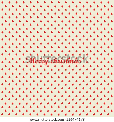 Merry Christmas festive background. Vector Christmas tree
