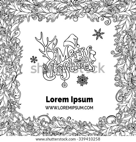 merry christmas frame vector