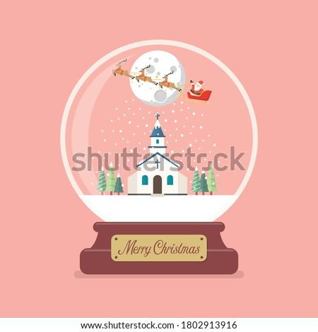 merry christmas glass ball with