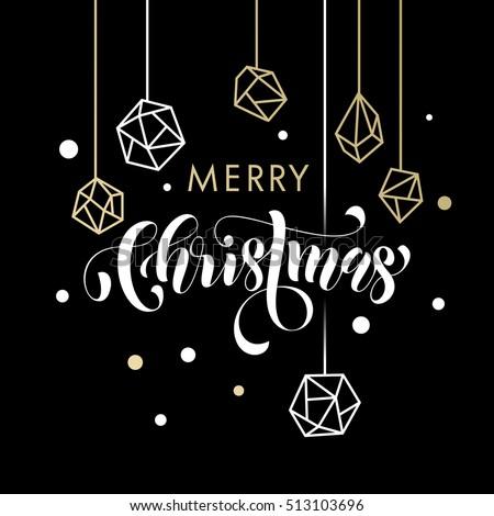 merry christmas gold glitter