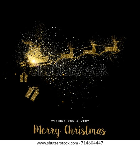 merry christmas gold luxury