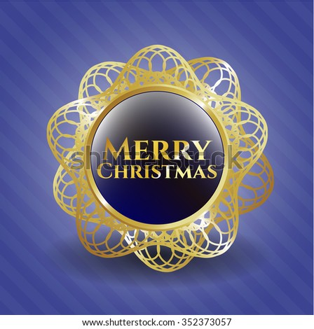 Merry Christmas golden badge