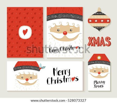 Christmas headers download free vector art stock graphics images merry christmas greeting card set with cute santa claus retro designs includes holiday themed label spiritdancerdesigns Choice Image