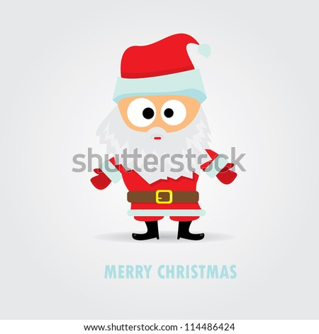 merry christmas greeting card. vector abstract xmas background. Vector Santa Claus with open hands.