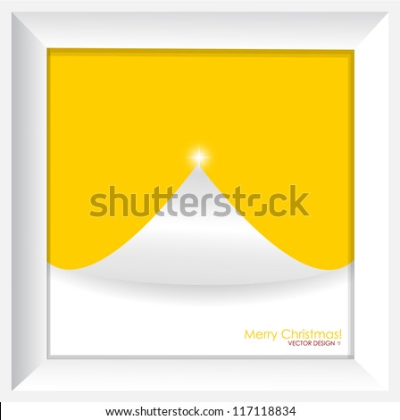 Merry Christmas Greeting Card, vector illustration.