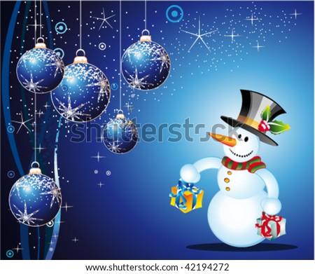 Cartoon Snowman Images. card with cartoon snowman