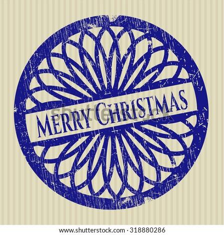 Merry Christmas grunge seal