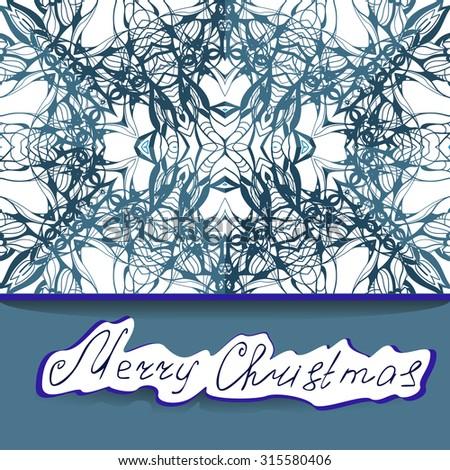 merry christmas  hand drawn