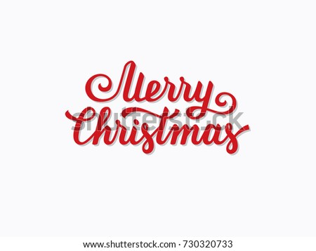 merry christmas hand drawn text font type composition calligraphy lettering xmas greeting card - Merry Christmas Logos