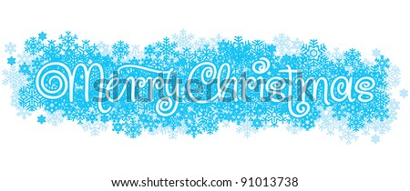 MERRY CHRISTMAS hand lettering - handmade calligraphy, vector (eps8) - stock vector