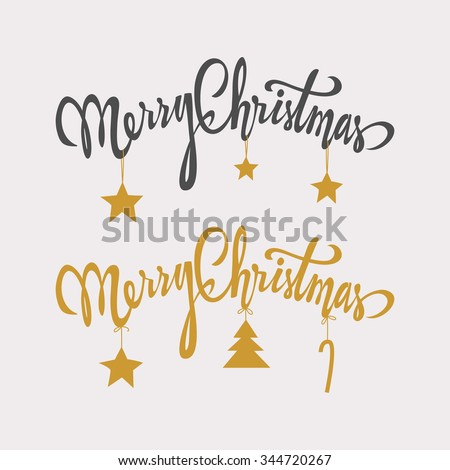 Merry Christmas handdrawn lettering.