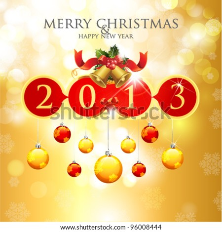 Merry Christmas & Happy New Year 2013 Card