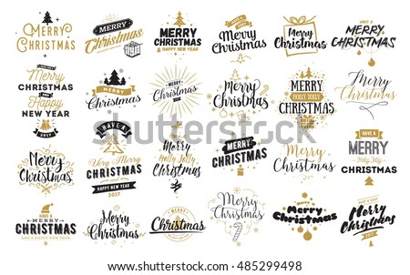 stock-vector-merry-christmas-happy-new-year-typography-set-vector-logo-emblems-text-design-usable