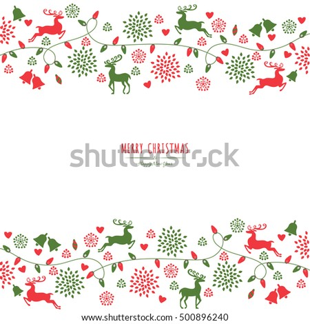 merry christmas holiday greeting card. can be use for poster, banner, graphic element, leaflet and background, vector illustration  #500896240