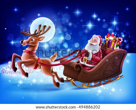 stock-vector-merry-christmas-illustration-with-santa-claus