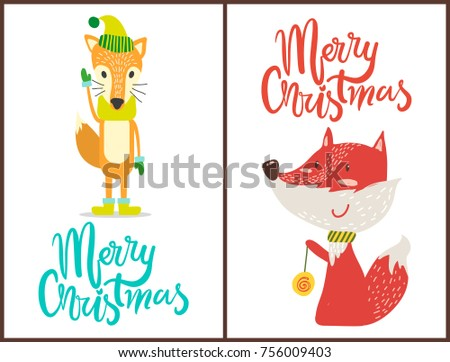 merry christmas  images of fox