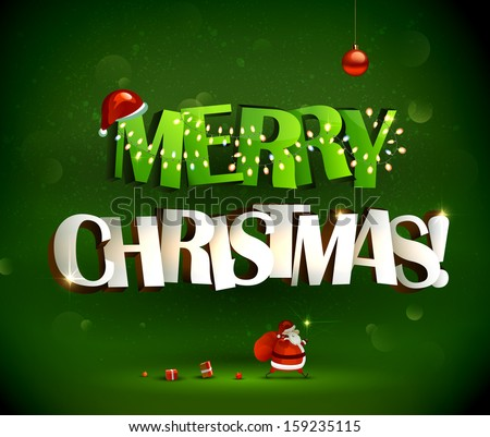 merry christmas inscription and