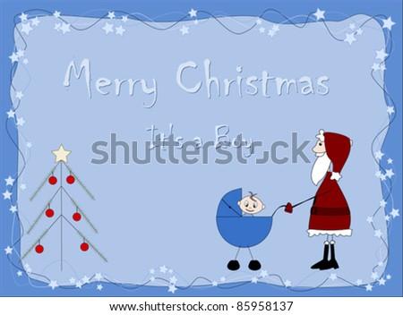Merry Christmas - It`s a boy - Santa Claus