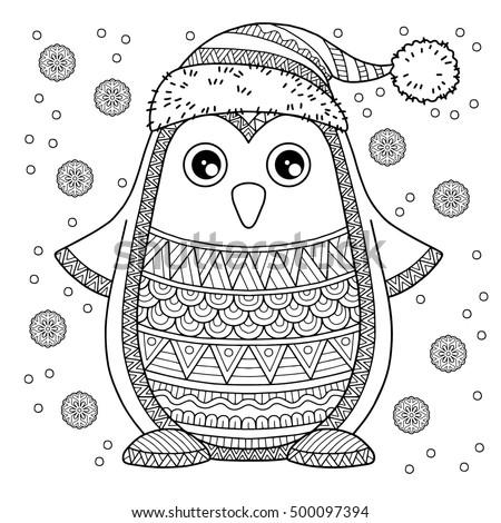 merry christmas. jolly penguin. ...