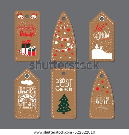 merry christmas label badge