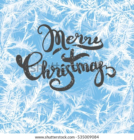 merry christmas lettering on