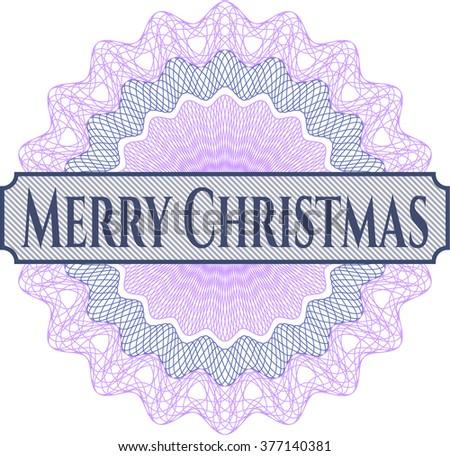 Merry Christmas money style rosette