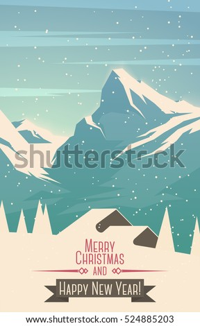 merry christmas mountains...