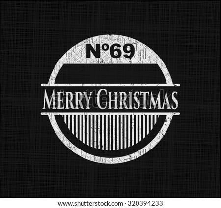 Merry Christmas on chalkboard