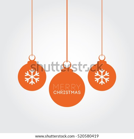 Merry Christmas Orange Balls Decoration