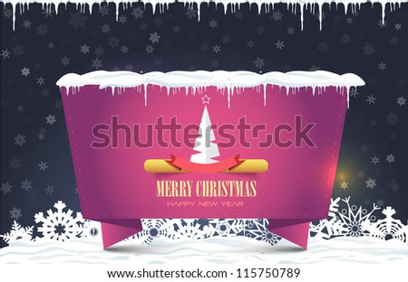Merry Christmas Origami Card Banner