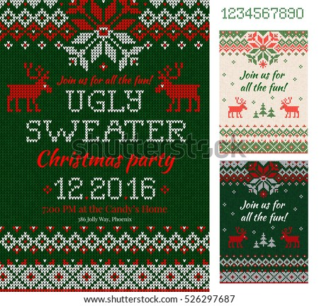 Free Vector Ugly Christmas Sweater - Download Free Vector Art ...