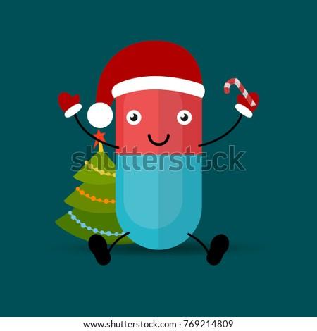 merry christmas pills happy