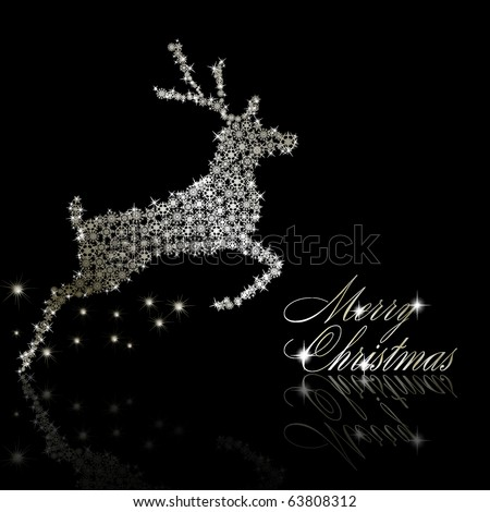 Merry Christmas postcard Vector eps10 illustration