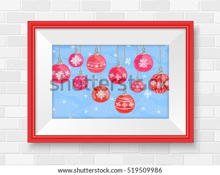 merry christmas poster in frame