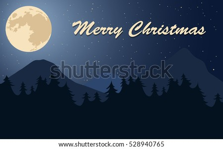 merry christmas poster moon