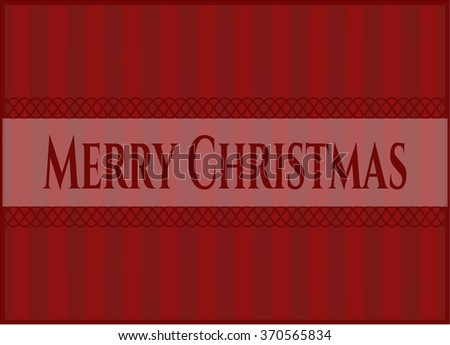 Merry Christmas poster or banner