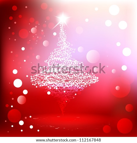 Merry Christmas red background