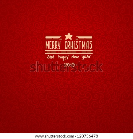 merry christmas red Greeting Card