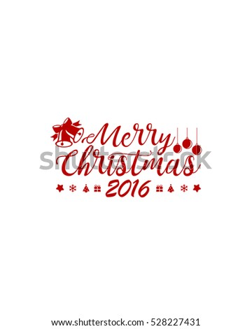 Merry Christmas Red Lettering Design 3
