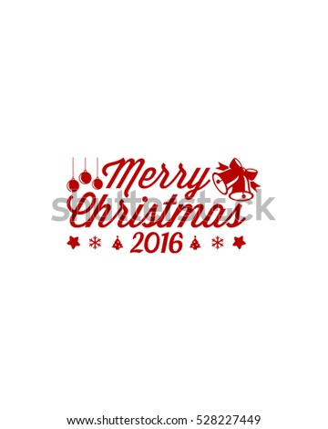 Merry Christmas Red Lettering Design 1