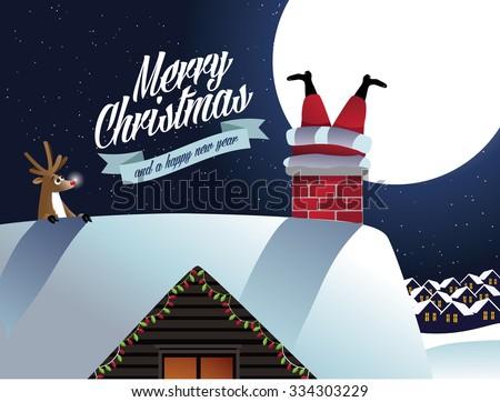 merry christmas reindeer sees
