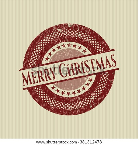 Merry Christmas rubber grunge texture seal