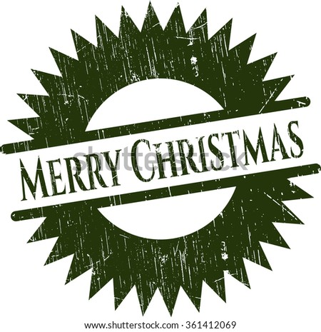 Merry Christmas rubber grunge texture stamp