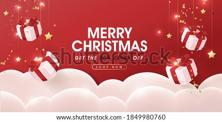 Merry Christmas sale banner template
