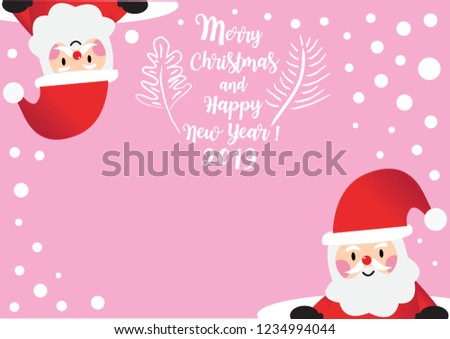 santa claus in christmas snow scenegreeting christmas and new year 2019